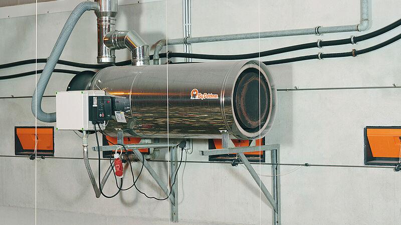 Wyposażenie kurnika z mniejszym zużyciem energii: nagrzewnice RGA 100